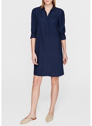 Mavi Gömlek Elbise Mavi